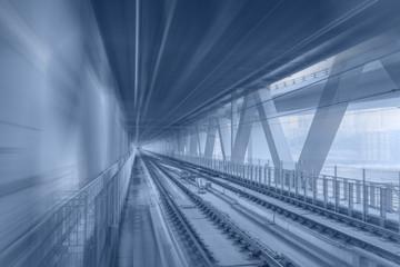 Mercedes-Benz train on light rail