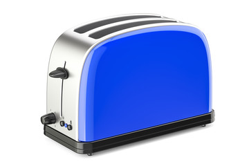 Blue toaster, 3D rendering