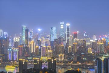 Poster Bangkok Chongqing architectural scenery and skyline