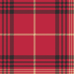 Red check plaid tartan seamless pattern