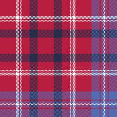 red tartan pixel texture fabric plaid seamless pattern