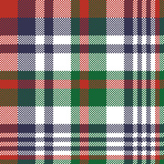 Check pixel color plaid seamless pattern