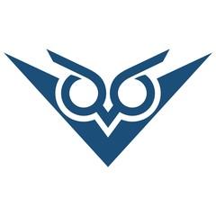 Fototapete - Owl Letter V