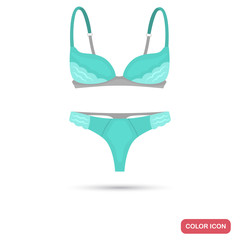Set of underwear for women color flat icon for web and mobile design