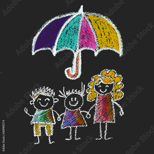 Family Social Protection Insurance Kids Drawing Children Drawing
