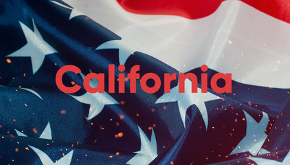 text California, flag of the United States of America