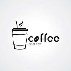 Coffee shop logo design elements. Vector illustration