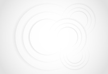 White gradient abstract line circle background