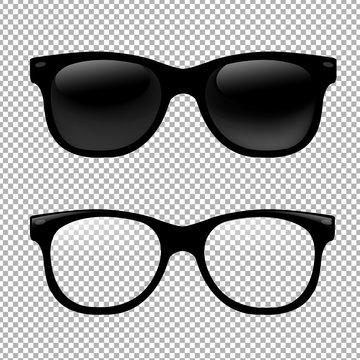 Glasses Set In Transparent Background