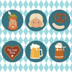 Oktoberfest related icons