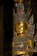 Buddha image at Nga Phe Chaung Monastery Myanmar