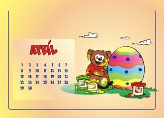 Kalenderblatt April Bären