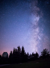 Milky Way next to space observatory