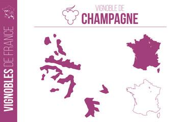 Carte du vignoble de Champagne