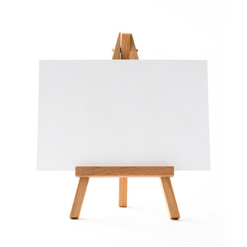 small horizontal easel front.