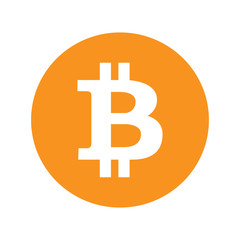 Bitcoin icon sign isolated on background. Vector stock.