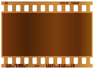 Film strip. Real color vector illustration. White background.