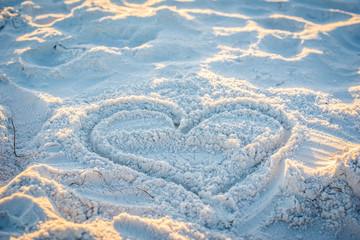 Sand Heart on Beach