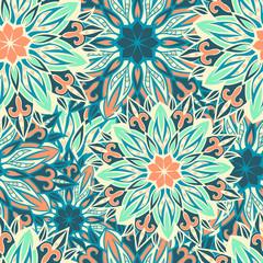 Seamless round ornament pattern. Seamless mandala pattern