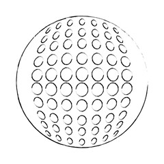 golf ball icon over white background vector illustration