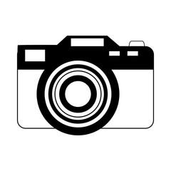 photographic camera icon image vector illustration design  black and black and