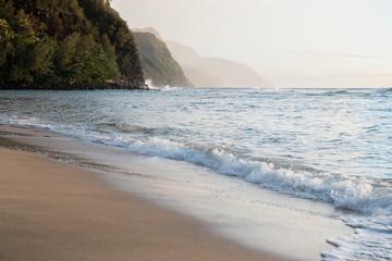 Sunset on Ke'e Beach, Kauai