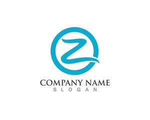Z letter logo template