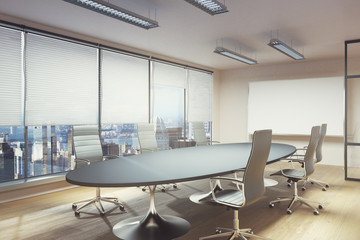 Contemporary meeting room