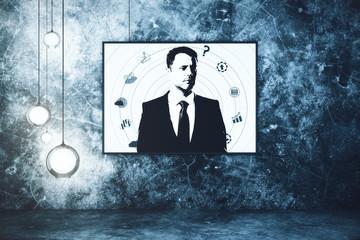 Businessperson portrait in interior