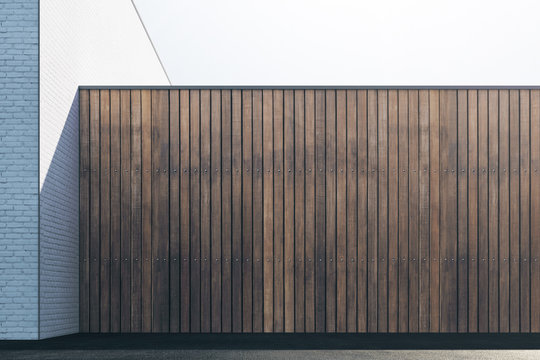 Empty brown wood wall