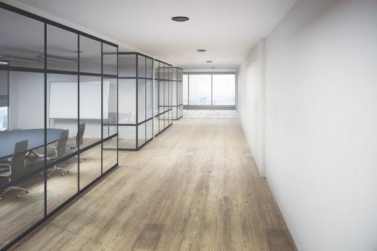 Creative office hallway