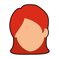 Woman cartoon smiling icon vector illustration graphic design