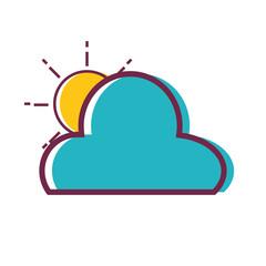 sun and cloud natutal weather design