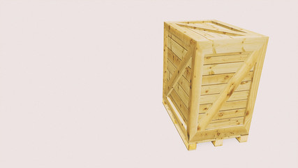 Euro pallet with transport box for logistics applications 3d illustration