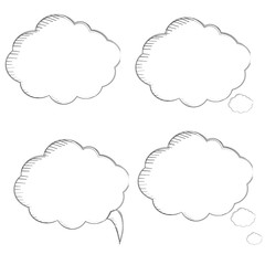 Clouds for thoughts, cloud icon. vector illustration