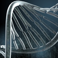 Dark background with DNA