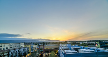 Wall Mural - Silicon Valley sunrise