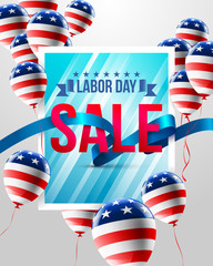 Happy Labor Day with balloons template.American labor day Brochures,Poster or Banner.Vector illustration.