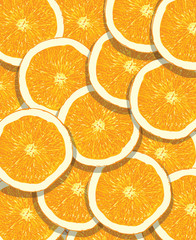 orange fruit pattern