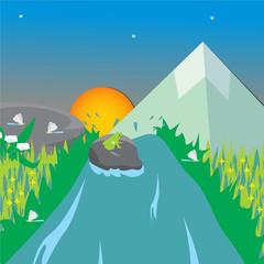 background vector scenery