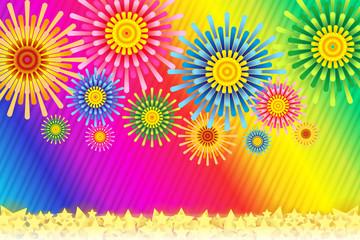 花火イメージ,打ち上げ花火,スターマイン,夏イメージ,日本,縞模様,ストライプ,縞々,ボーダー柄,夜
