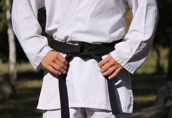 Tie a black belt