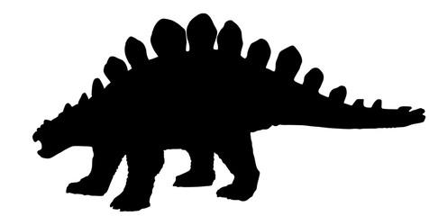 Vector silhouette of a stegosaurus dinosaurus.