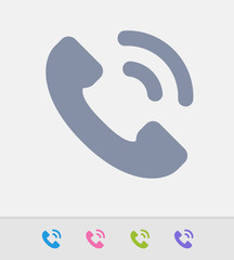 Phone Call - Granite Icons. A professional, pixel-perfect icon designed on a 32x32 pixel grid and redesigned on a 16x16 pixel grid for very small sizes.
