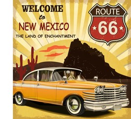 Welcome to New Mexico retro poster