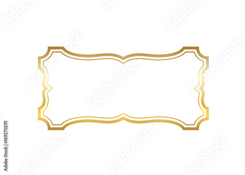 2c5fd3c3b71a Gold frame. Beautiful simple golden design. Vintage style decorative border isolated  white background.