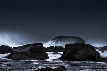 Stürmischer Wintertag auf den Lofoten