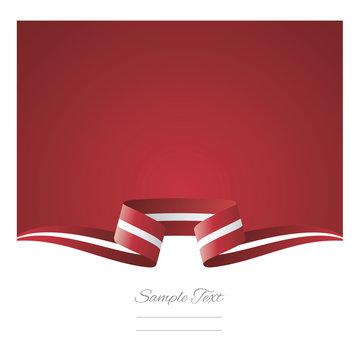 Abstract background Latvia flag ribbon