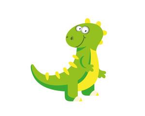 Flat Cute Dinosaur Character