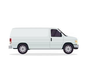 Modern Commercial Delivery Vehicle Illustration Logo
